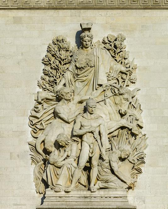 Place de l'Étoile, Arc de triomphe, La Paix de 1814 par Antoine