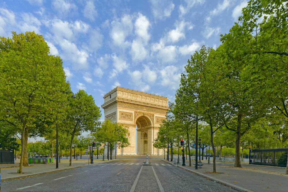 Place de l'Étoile, Arc de triomphe depuis l'avenue Marceau, [Je