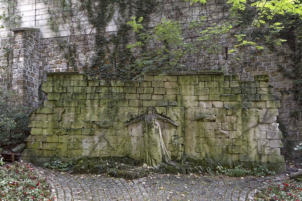 Jardin Samuel de Champlain, avenue Gambetta, Paris 75020, Mur de