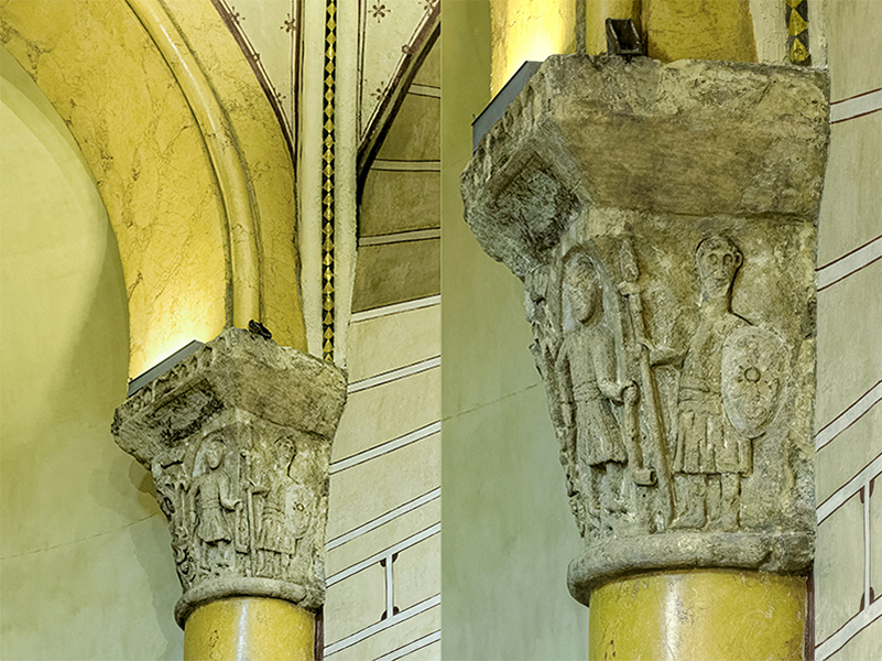 Mur nord, 1ère arcade, colonne engagée, Le massacre des innoce