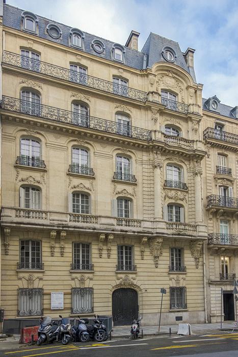 rue François 1er (26), Paris 75008, Concours de façade 1904, A