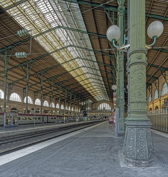 colonne, Gare du Nord, Grande verriere, J-I Hittorff (architecte