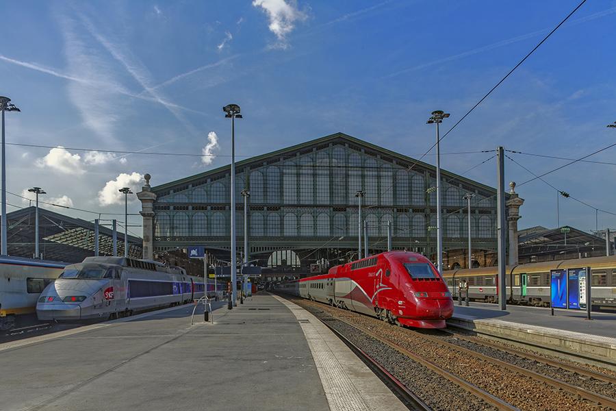 Grande verriere, quai TGV, Gare du Nord, J-I Hittorff (architect