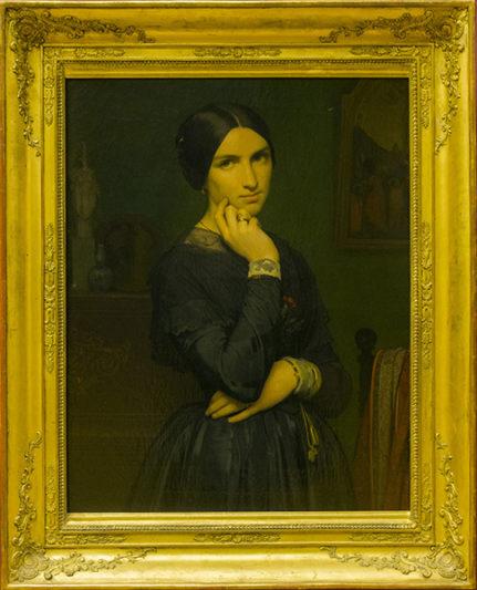 Hippolyte Flandrin (peintre 1809-1864), portrait de l'épouse