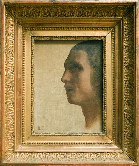 Hippolyte Flandrin (peintre 1809-1864), Tête d'homme de profi