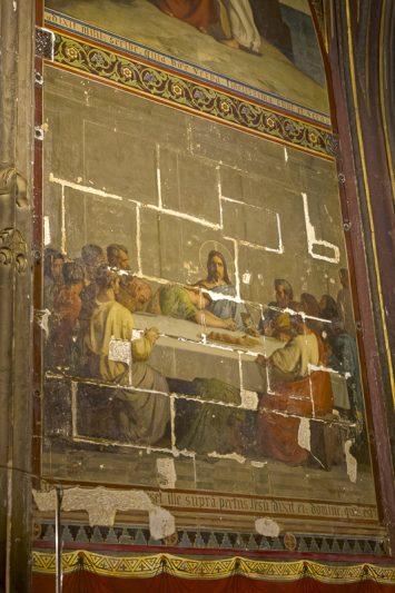 Eglise Saint-Séverin, chapelle Saint-Jean, La Cène, peinture m