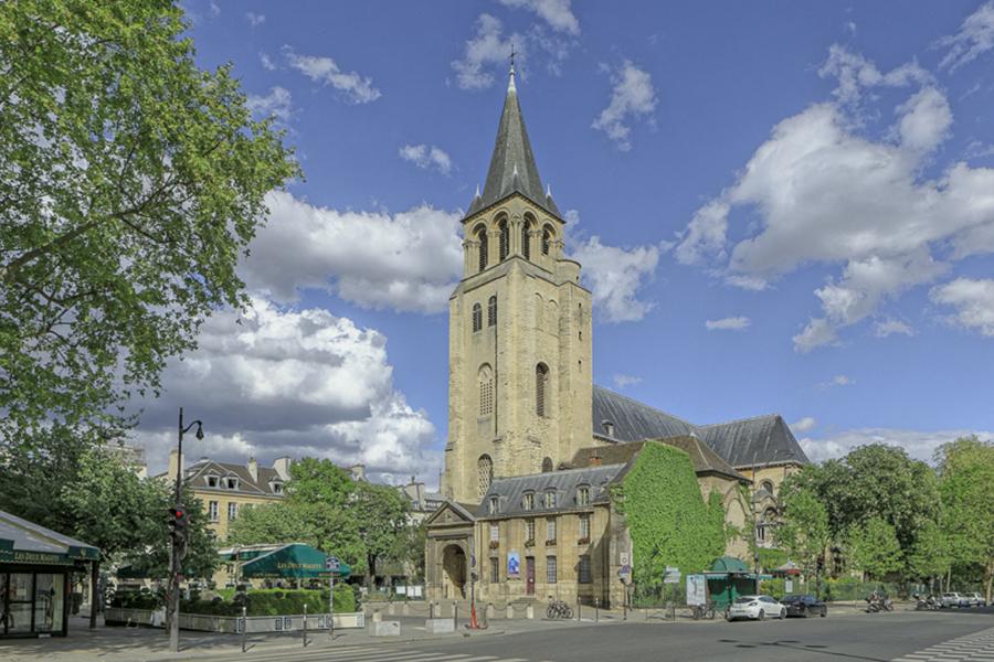 Boulevard Saint-Germain, église Saint-Germain-des-Prés, Paris