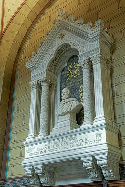 Bas-côté nord, Monument pour Hippolyte Flandrin par Victor Bal