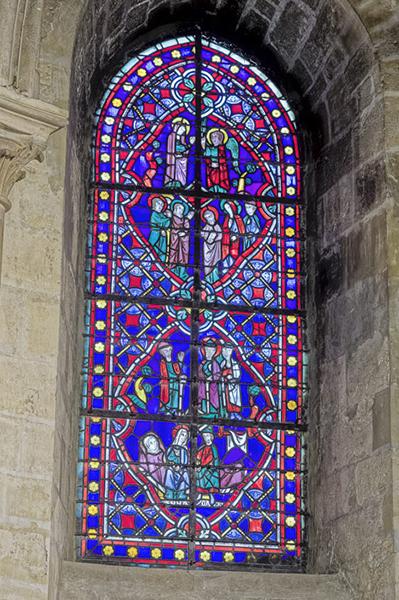 Chapelle Sainte Geneviève, Vitrail XIIème, L'Annonciation et l